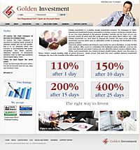 HYIP GoldenInvestment screenshot home page