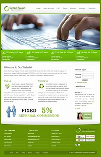 HYIP greenround screenshot home page