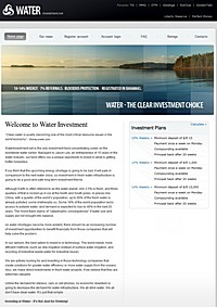 HYIP WaterInvestment screenshot home page