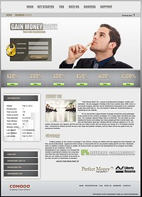 HYIP gainmoneybank screenshot home page