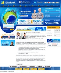 HYIP elitebank screenshot home page