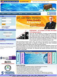 HYIP ProfitMarket screenshot home page