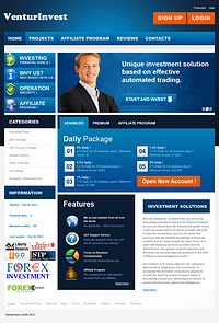 HYIP venturinvest screenshot home page