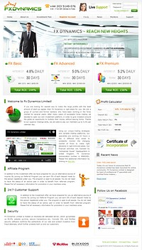 HYIP goldprofitsexplorer screenshot home page