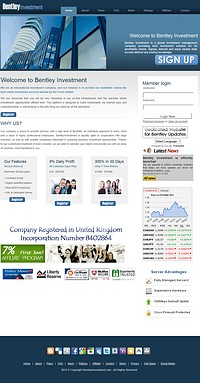 HYIP bentleyinvestment screenshot home page