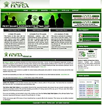HYIP FinFex screenshot home page