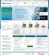 HYIP ReProFinance screenshot home page