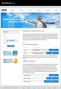 HYIP InviteInvest screenshot home page