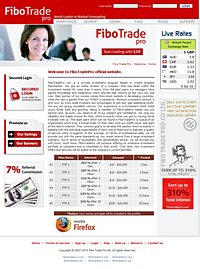 HYIP fibotradepro screenshot home page