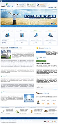 HYIP investifield screenshot home page