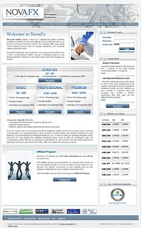 HYIP novafx screenshot home page