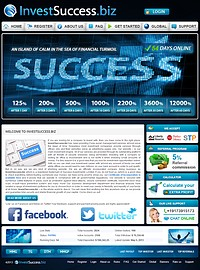 HYIP investsuccess screenshot home page