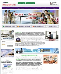 HYIP HyCapitalFunds screenshot home page