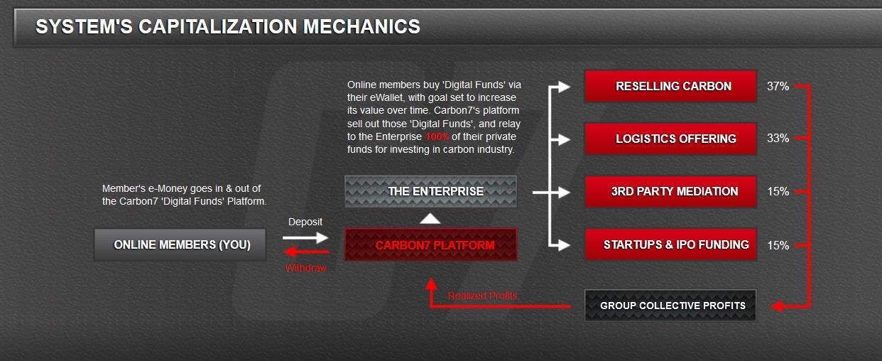 Carbon7 capitalization mechanism