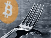 Bitcoin hard fork block split